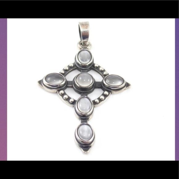 James Avery Jewelry - James Avery Retired Rare Moonstone Cross Pendant